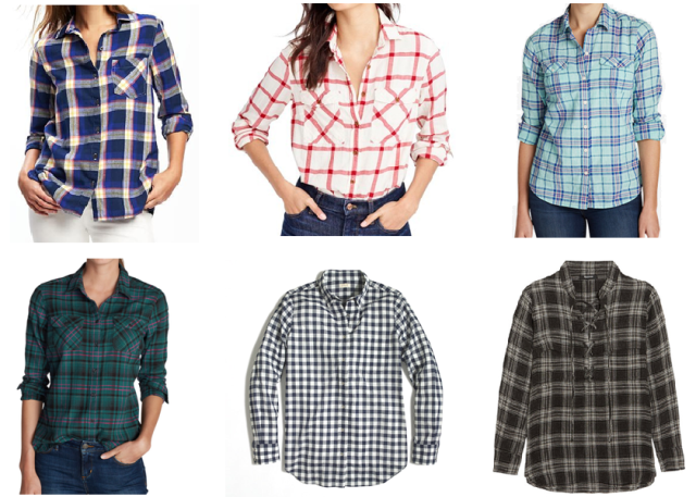 collage flannel shirt