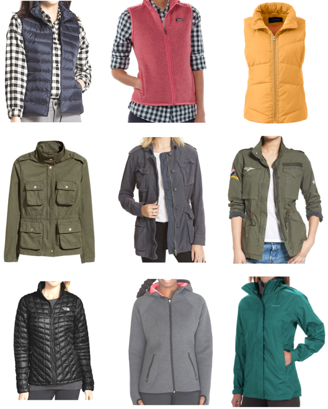 collage jackets and vests